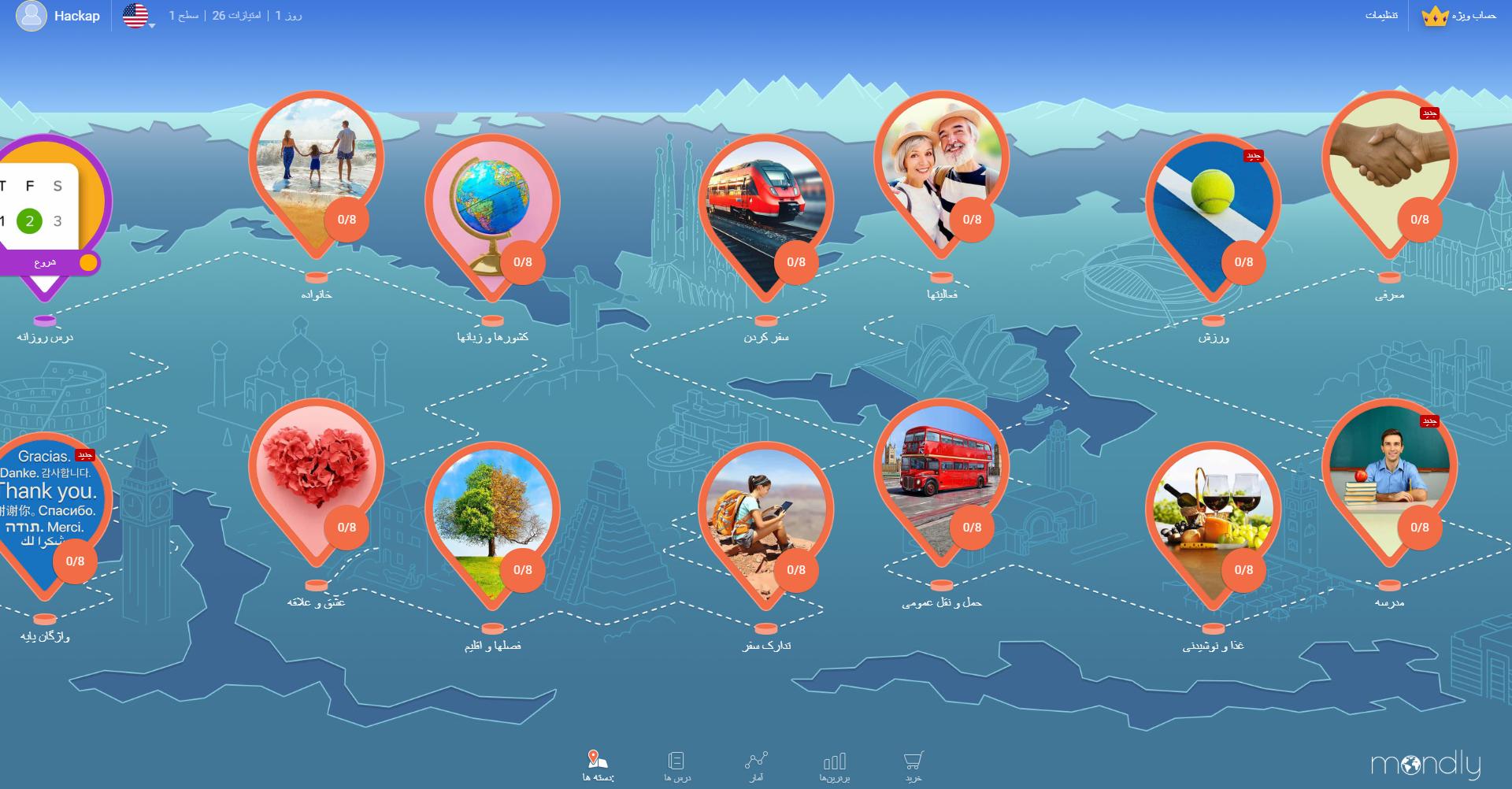 ماندلی -آموزش زبان آنلاین