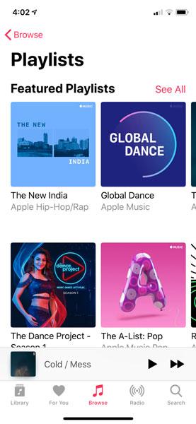 ویژگی های اپل موزیک